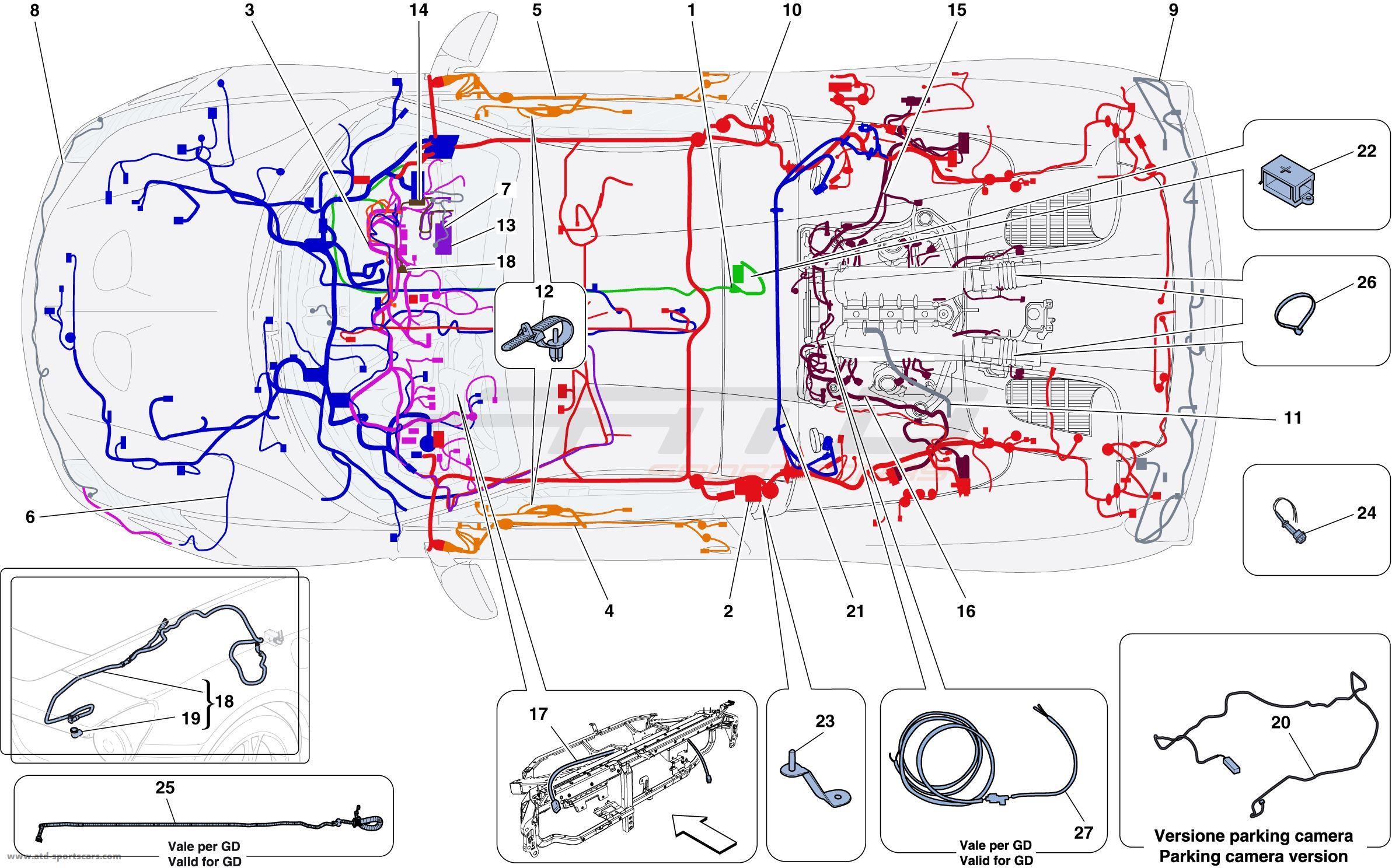 Wondrous Ferrari 458 Speciale A Main Wiring Harnesses Atd Sportscars Wiring 101 Sianudownsetwise Assnl