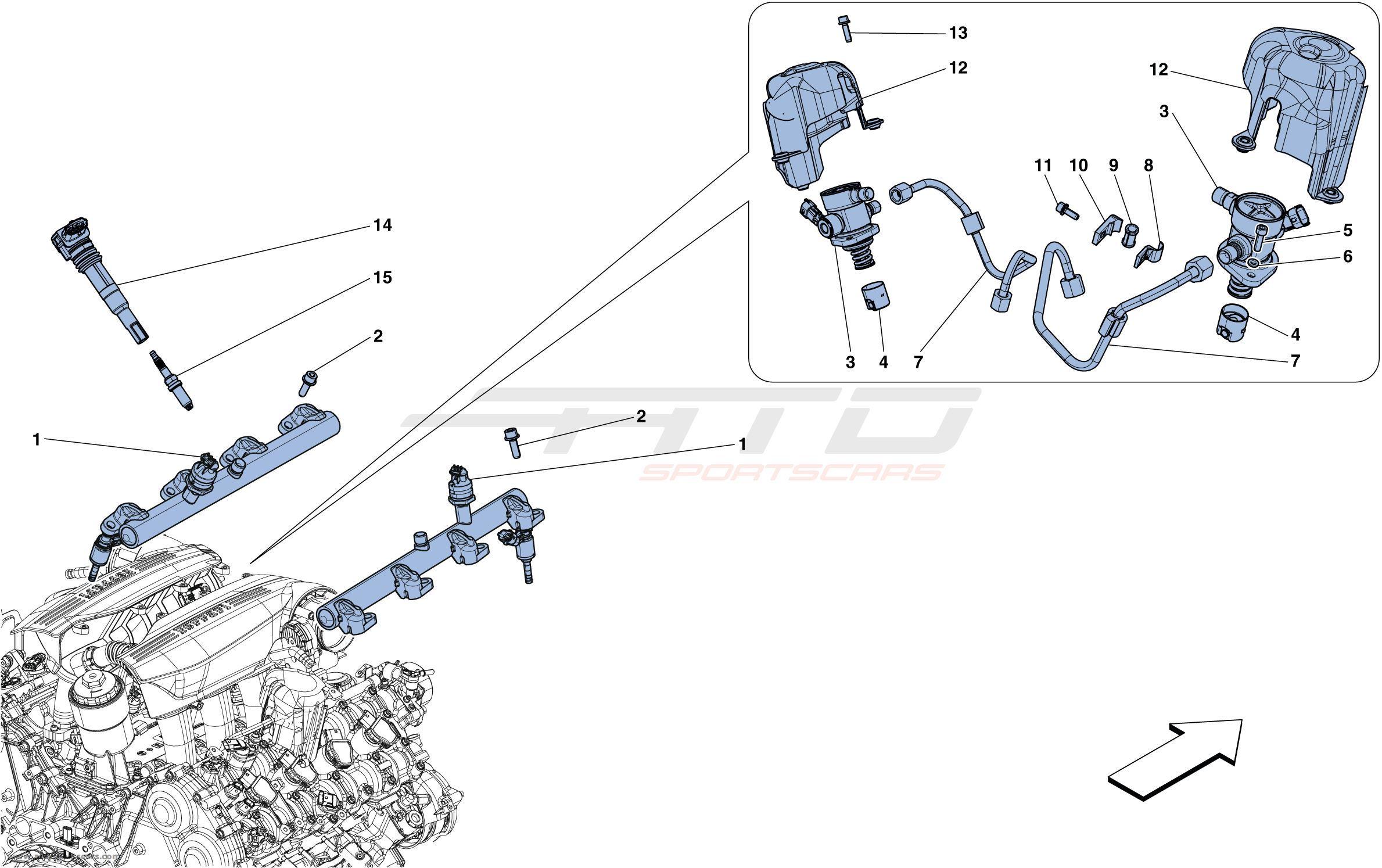 Ferrari 488 Gtb Parts Catalog Order Online Atd Sportscars Element Ac Compressor Assemblies Diagram Car Injection Ignition System 0007