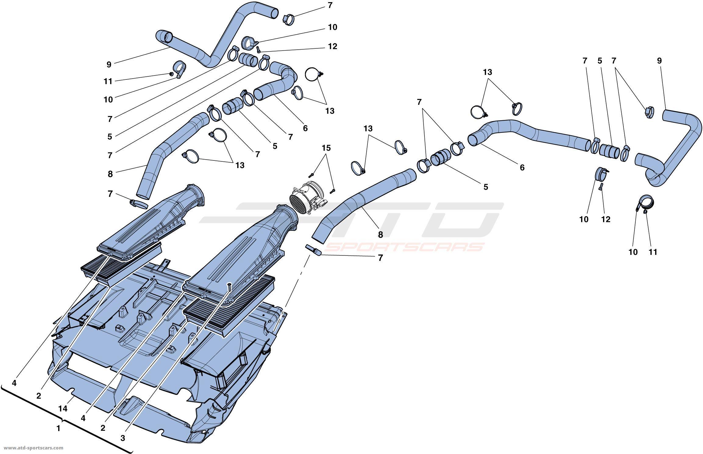 INTAKE MANIFOLD - 0013 · F12 Berlinetta AIR INTAKE - 0014
